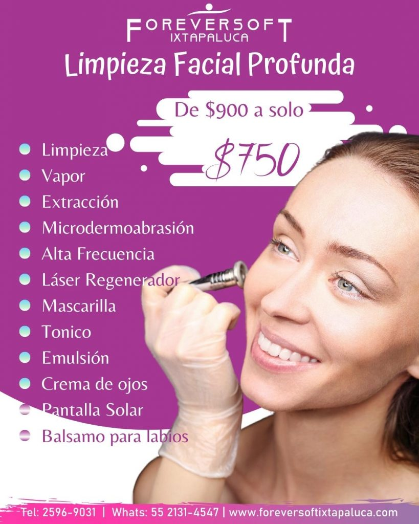 Promociones de tratamiento facial de limpieza profunda